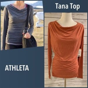 NWT Athleta Tana Boatneck Long Sleeved Size M